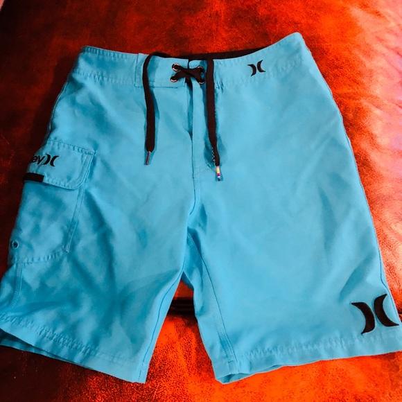 86607217 Hurley Boys Swim Shorts Bright Blue NWOT SZ 10/25
